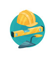 builder icon construction tools cartoon vector image