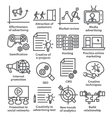 Business management icons in line style Pack 05 vector image vector image