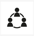 business people icon in simple black design vector image vector image
