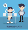 business woman in hard working vector image vector image