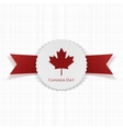 Canada Day festive paper Label vector image vector image