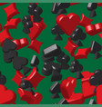 card symbols seamless pattern vector image