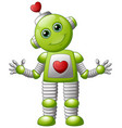 cartoon valentine robot vector image