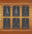 Chalkboard gift tags hand drawn vintage vector image vector image