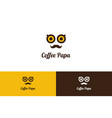 Coffee papa logo with character