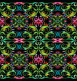 colorful damask seamless pattern bright floral vector image vector image