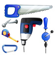 construction tools and equipments vector image