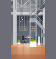 coworking office interior modern coworking center vector image vector image