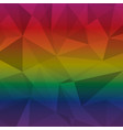 created multi color triangle abstract background vector image vector image