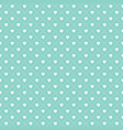 cute seamless hearts lattice background mint green vector image
