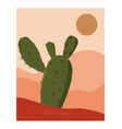 desert abstract landscape minimalist wall art vector image vector image