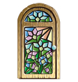 Doors with stained glass vector image vector image