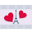 Eiffel Tower Valentine Postcard from the Eiffel To vector image vector image