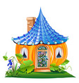 fairy little house made of pumpkin vector image vector image