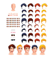 Fashion male avatars vector image