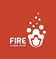 fire symbol identity vector image