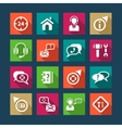 flat help and support icons vector image vector image