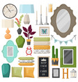 furniture items for bedroom or living room vector image
