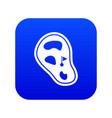 golf course field icon digital blue vector image vector image