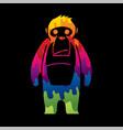 gorilla king kong graphic vector image vector image