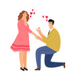 guy makes proposal to girl vector image