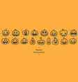 happy halloween banners flat designed row of vector image vector image