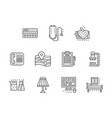 healthcare services black line icons set vector image vector image