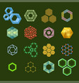 hexagon design geometric elements honeycombs vector image