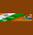 indian independence day horizontal web banner vector image