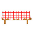 isolated picnic table icon vector image
