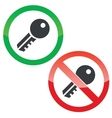 Key permission signs set vector image vector image