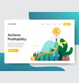 landing page template achieve profitability vector image