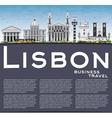 Lisbon Skyline with Gray Buildings Blue Sky vector image vector image