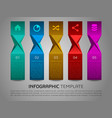 modern colorful ribbon infographics vector image
