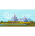 Mountains Landscape Background vector image vector image