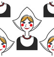 netherlands symbol woman in national costume vector image vector image