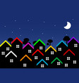 night city with houses vector image vector image