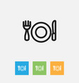 of cooking symbol on plate vector image