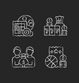 participation in lottery chalk white icons set vector image