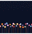 pattern floral background vector image vector image