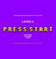 pixel art font retro alphabet for 8bit games vector image vector image