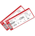 realistic airline ticket design vector image vector image