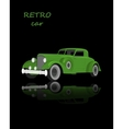 Retro car vintage collection classic garage sign vector image vector image