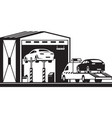 roadside assistance truck brings car to service vector image