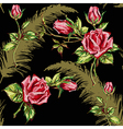 rose pattern on black vector image vector image