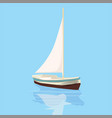 sailing boat yacht rest travel vector image vector image