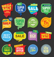 sale stickers and tags colorful collection 5 vector image vector image
