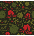 Scout camp seamless pattern vector image vector image