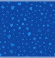 seamless pattern with hearts and stars vector image vector image