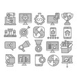 seo and web optimization icons vector image vector image